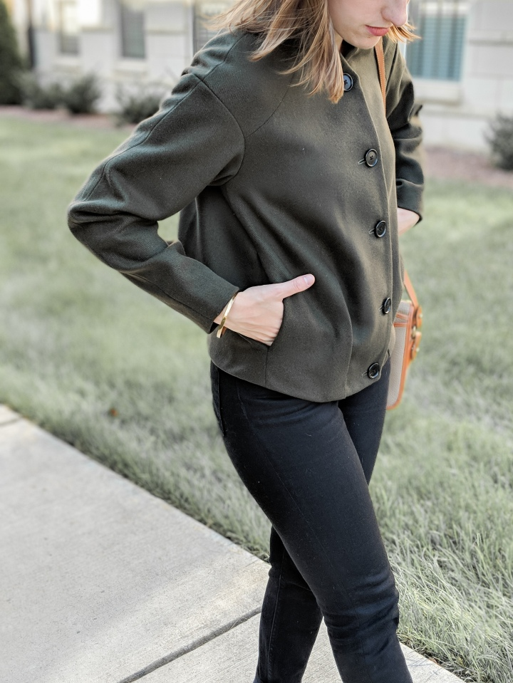 ethical green bomber jacket