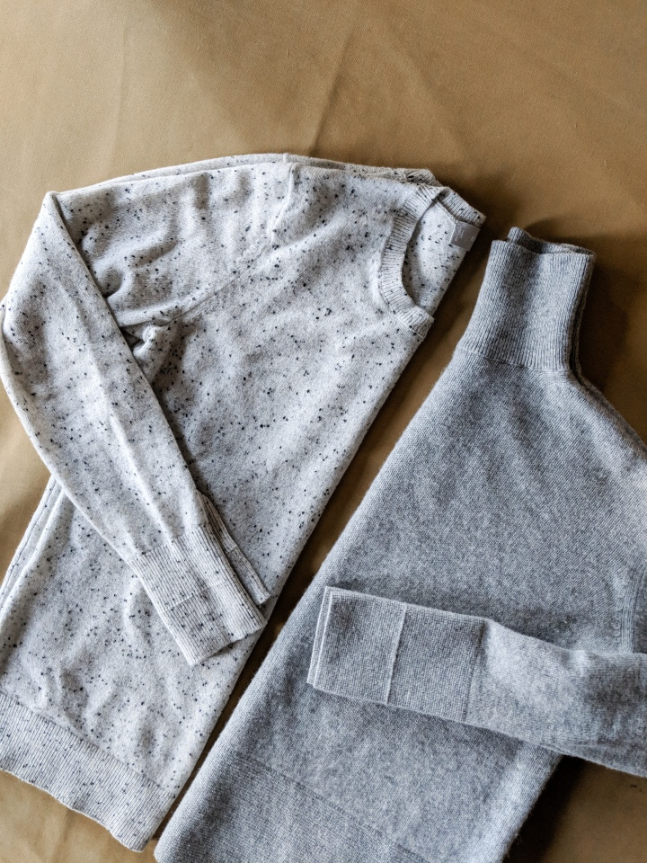 everlane cashmere crew and everlane cashmere square turtleneck