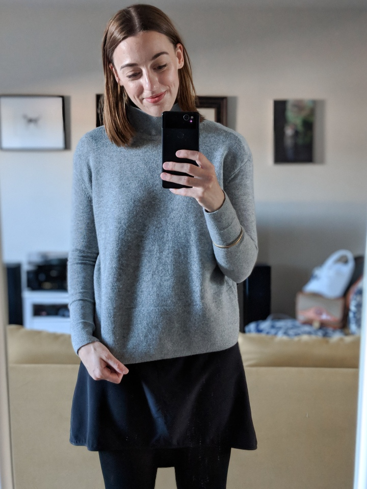 everlane cashmere square turtleneck