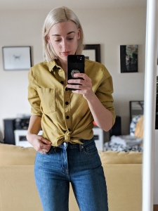 tradlands finch flannel and everlane jeans