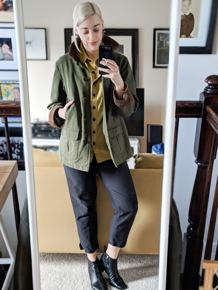 llbean barn coat tradlands finch flannel