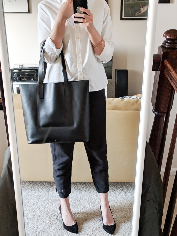 everlane day square tote black review