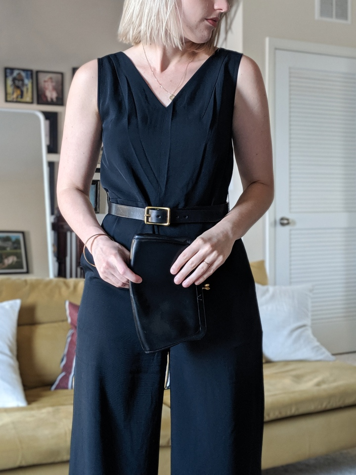 blake goods belt and everlane jumpsuit