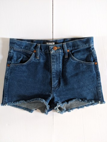 reformation jean shorts