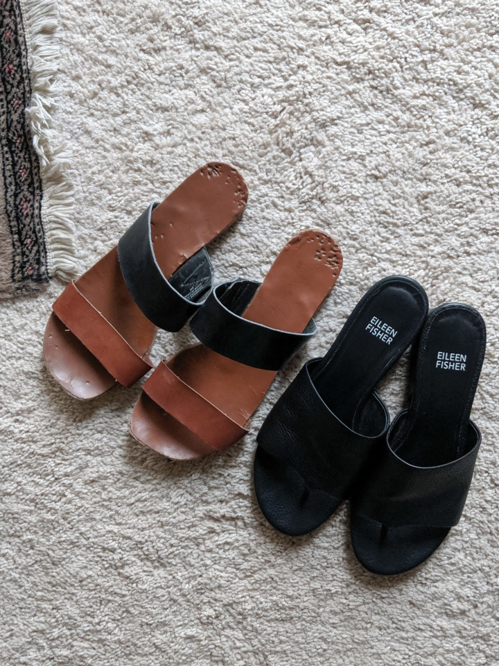 old sandals vs new sandals