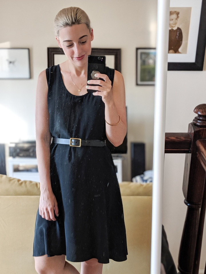 everlane dress blake goods belt