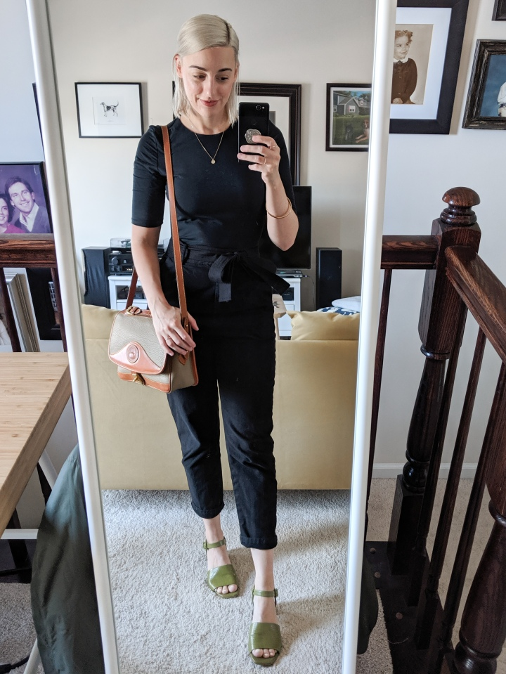 everlane body suit and vetta pants