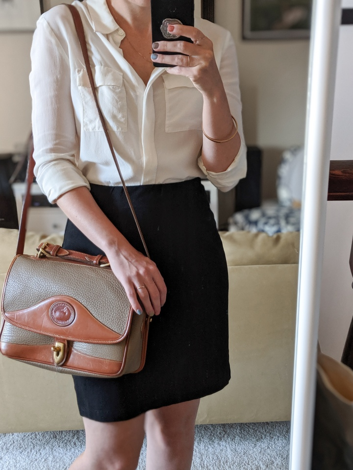 thrifted business casual outfit
