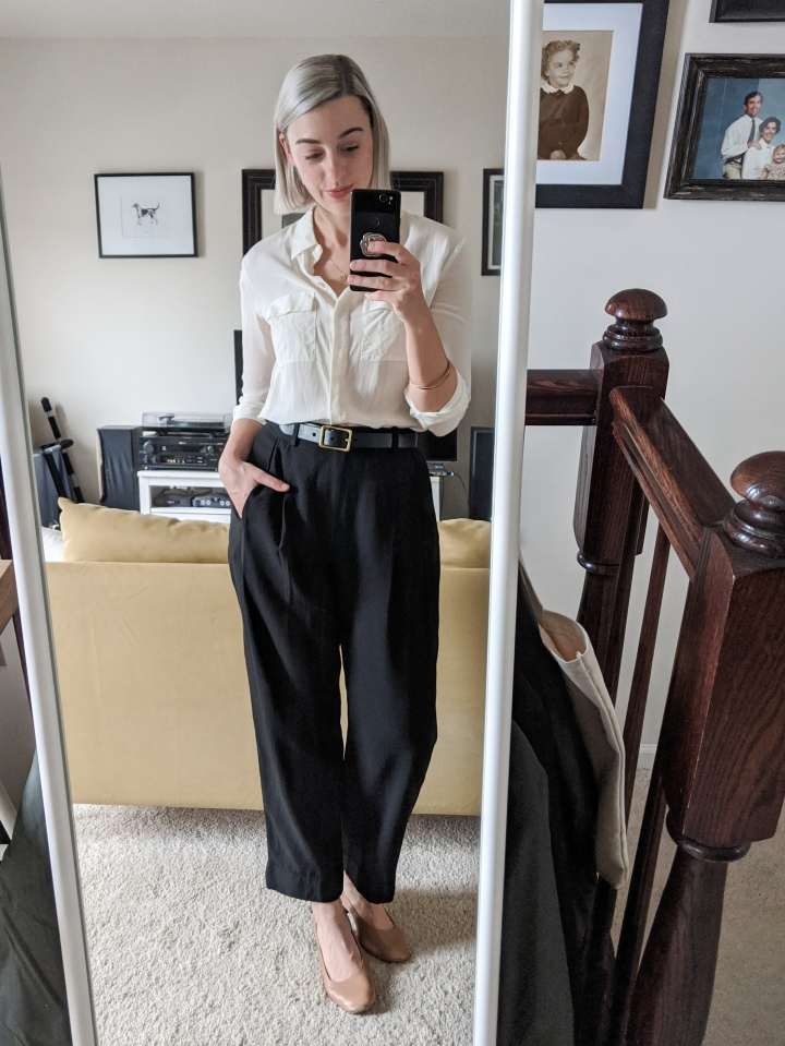 everlane put together pleat pant review