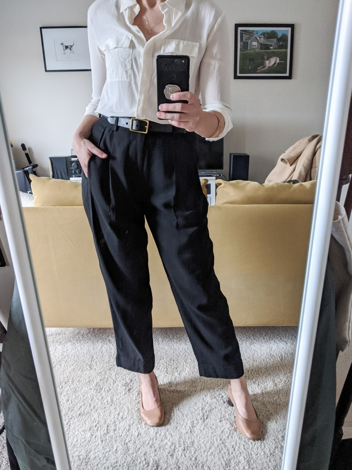 everlane pleat pant review