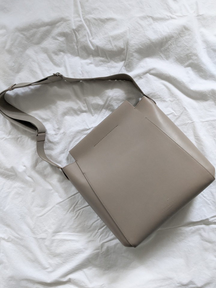 everlane form bag biscuit