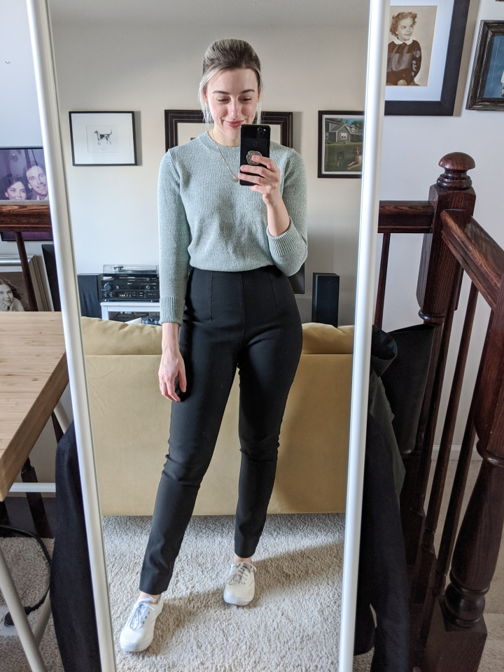 everlane soft cotton crew outfit