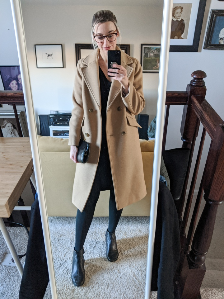 everlane rewool overcoat outfit