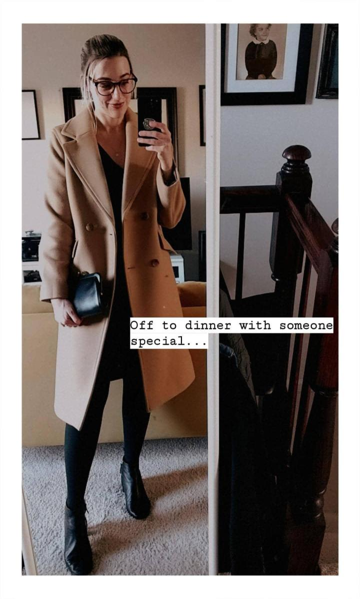 everlane wool overcoat ig story